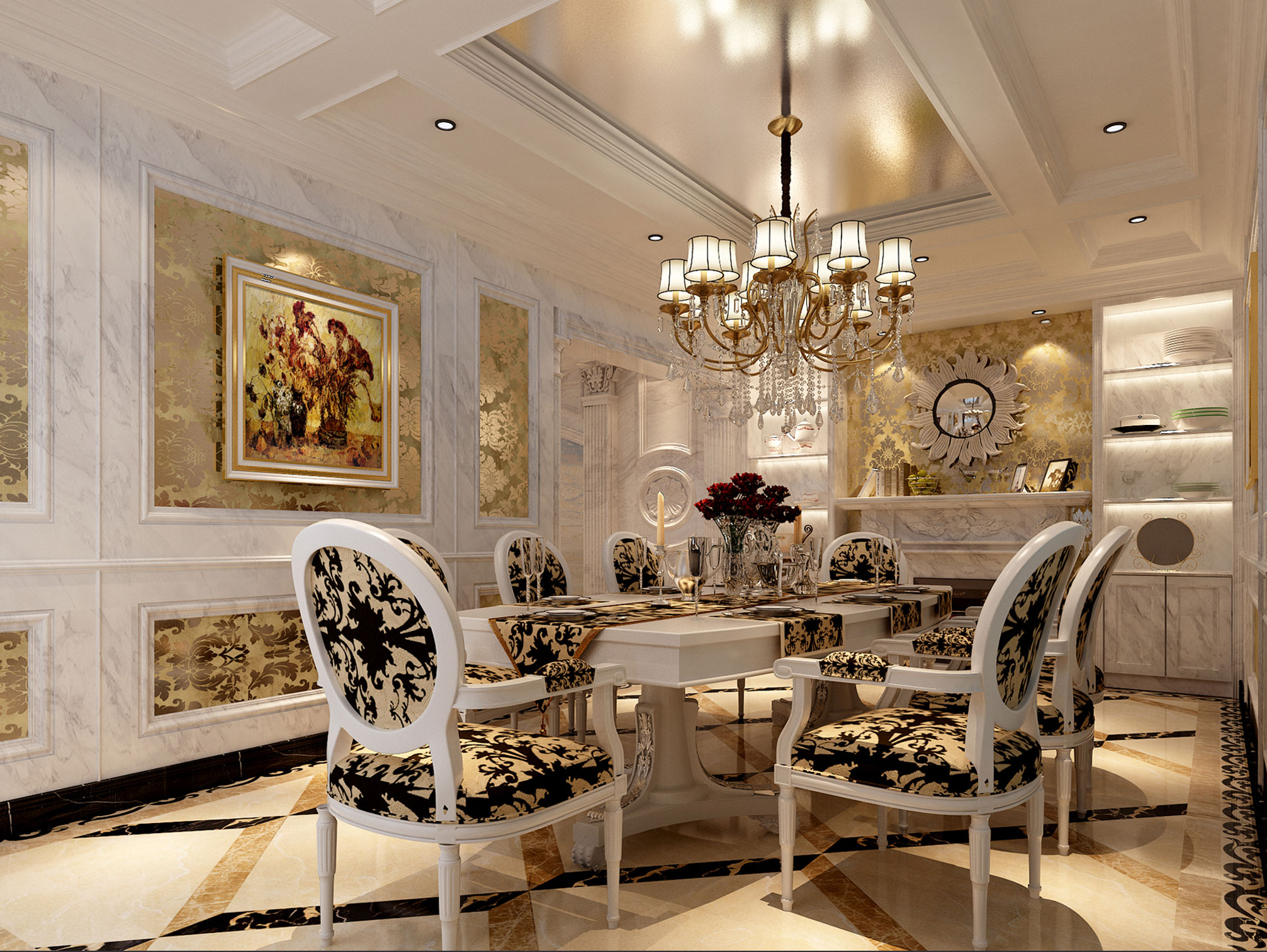 别墅 简约 欧式 80后 白领 小资 餐厅图片来自好易家装饰集团在官龙名苑的分享