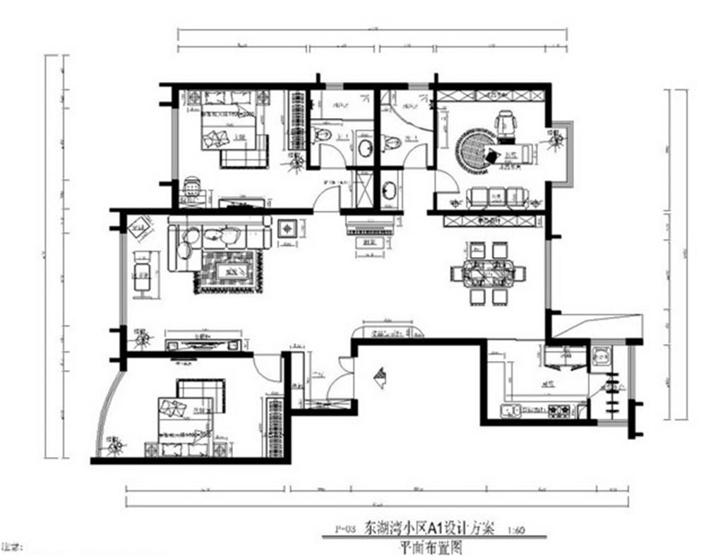 混搭 三居 白领 收纳 旧房改造 户型图图片来自实创装饰完美家装在美式风混搭新古典元素大气奢华的分享