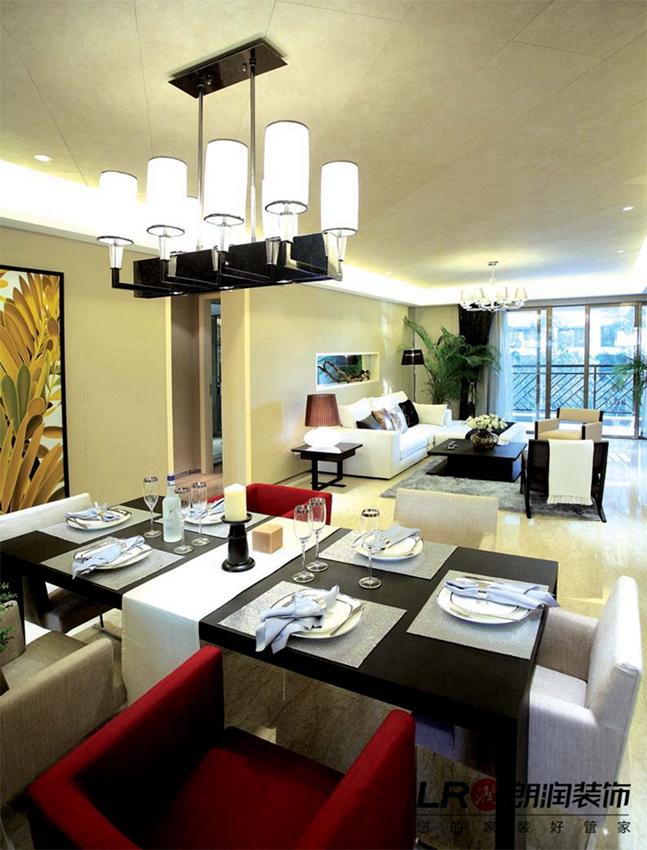 现代 简约 清爽 舒适 温馨 二居 87平 餐厅图片来自朗润装饰工程有限公司在87平温馨舒适现代二居的分享