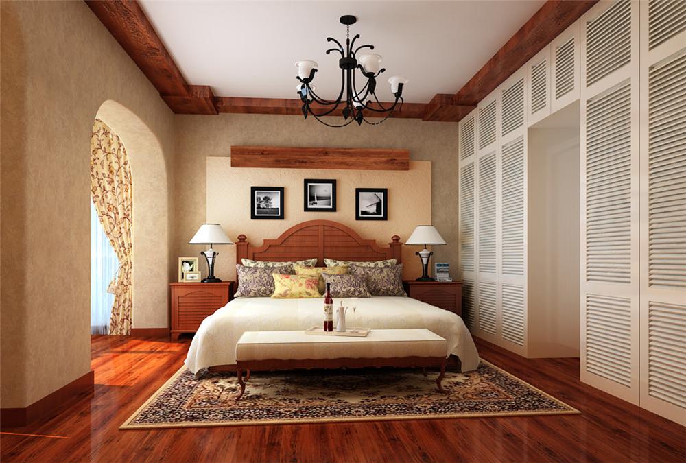 别墅 白领 收纳 80后 小资 卧室图片来自实创装饰完美家装在复古典雅恬淡洒脱恬淡浪漫的分享