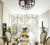 餐桌:这种精简的欧式元素,塑造出简单明亮的空间,搭配上中式的水饺,您是否有种就餐的冲动呢?