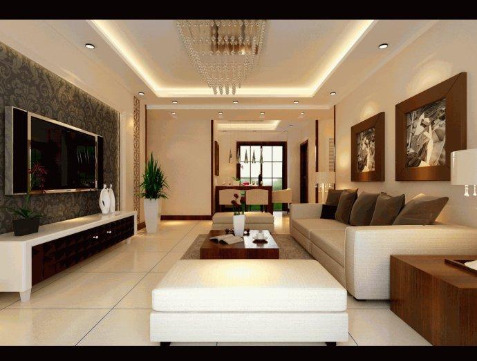 方圆创世 中式效果图 三居 客厅图片来自河南超凡装饰在方圆创世96平新中式风格效果图的分享