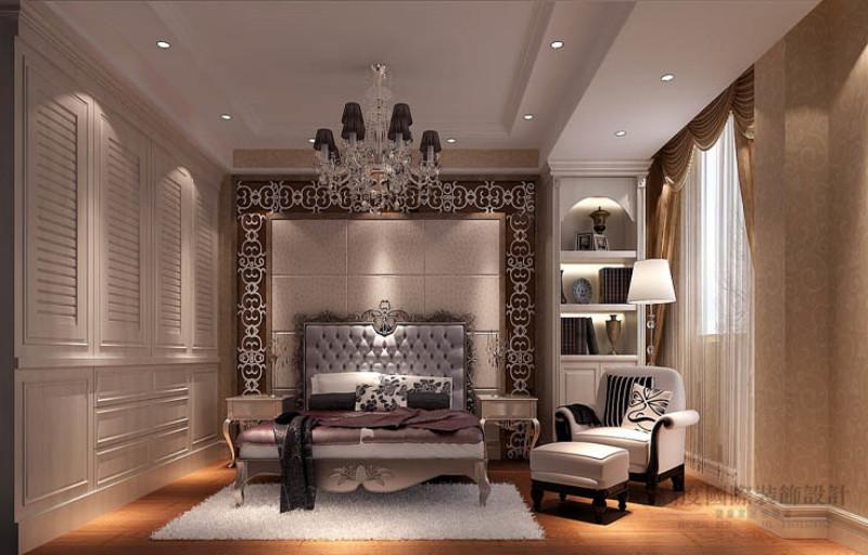 别墅 美式 效果图 设计案例 卧室图片来自高度国际设计装饰在金隅翡丽230平米美式古典案例的分享