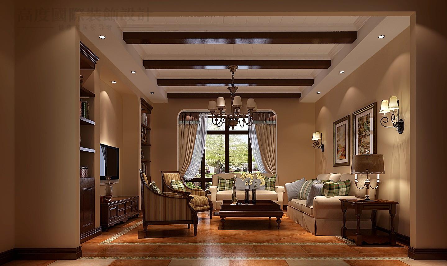 别墅 美式 80后 小资 四居 客厅图片来自高度国际别墅装饰设计在红杉溪谷美式别墅设计的分享