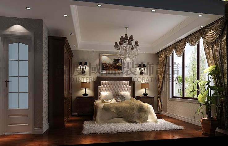 鲁能七号院 三居两卫 奢华欧式 140平米 8万元 高度国际 希文 公寓 卧室图片来自高度国际装饰宋增会在低调奢华丶雅致大气的分享