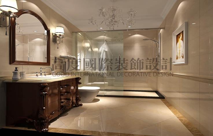 鲁能七号院 三居两卫 奢华欧式 140平米 8万元 高度国际 希文 公寓 卫生间图片来自高度国际装饰宋增会在低调奢华丶雅致大气的分享