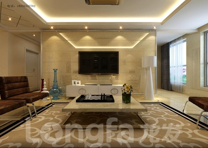 简约 三居 白领 小资 80后 客厅图片来自北京龙发装石家庄分公司在想象国际现代简约案例的分享