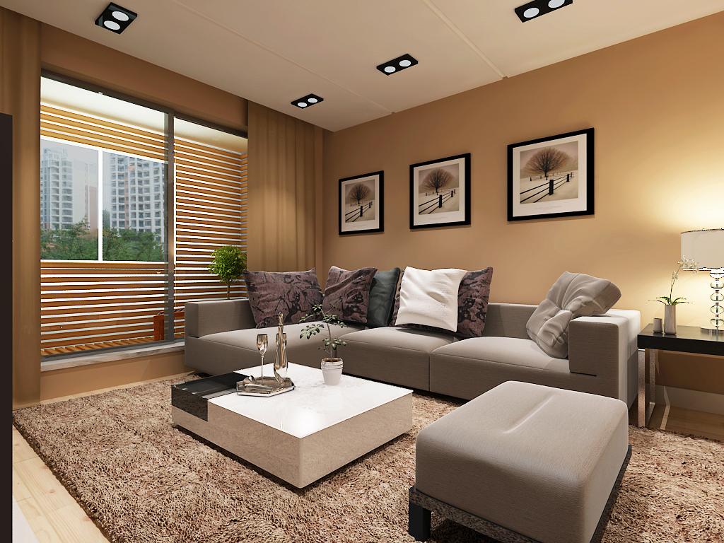 简约 二居 客厅图片来自百家设计小刘在金地铂悦90平的分享