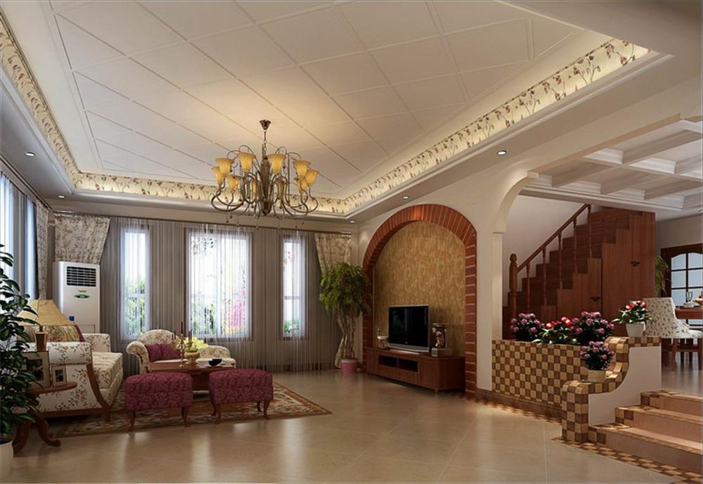 别墅 收纳 80后 客厅图片来自实创装饰完美家装在朴实美式乡村风吹向孔雀城大宅的分享