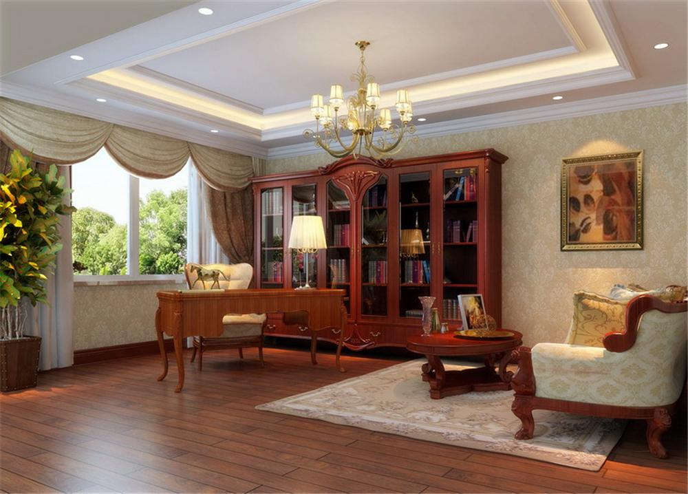 欧式 三居 别墅 白领 收纳 80后 小资 书房图片来自实创装饰完美家装在个性彰显豪情奔放无限畅享的分享
