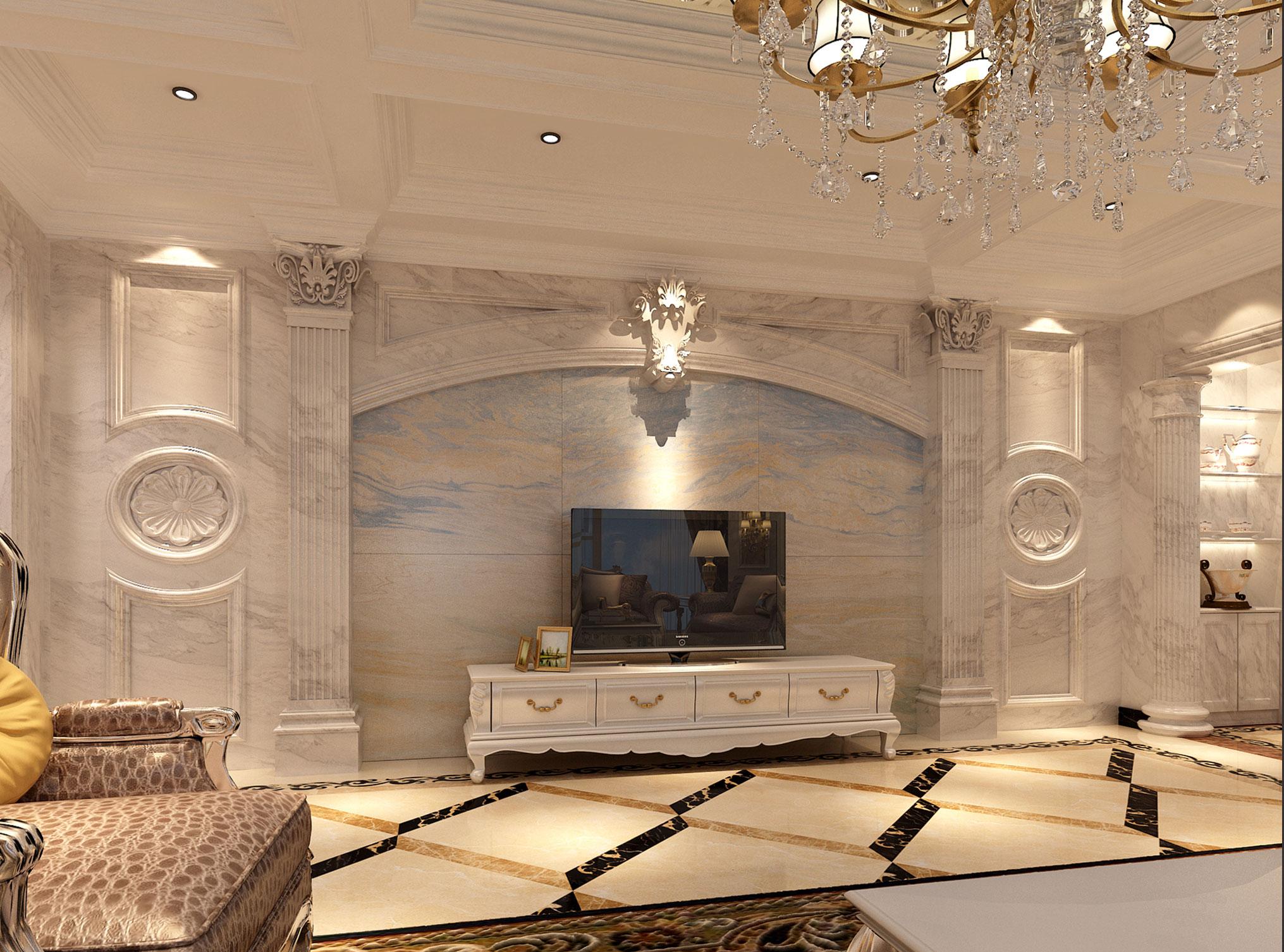 别墅 简约 欧式 80后 白领 小资 客厅图片来自好易家装饰集团在官龙名苑的分享