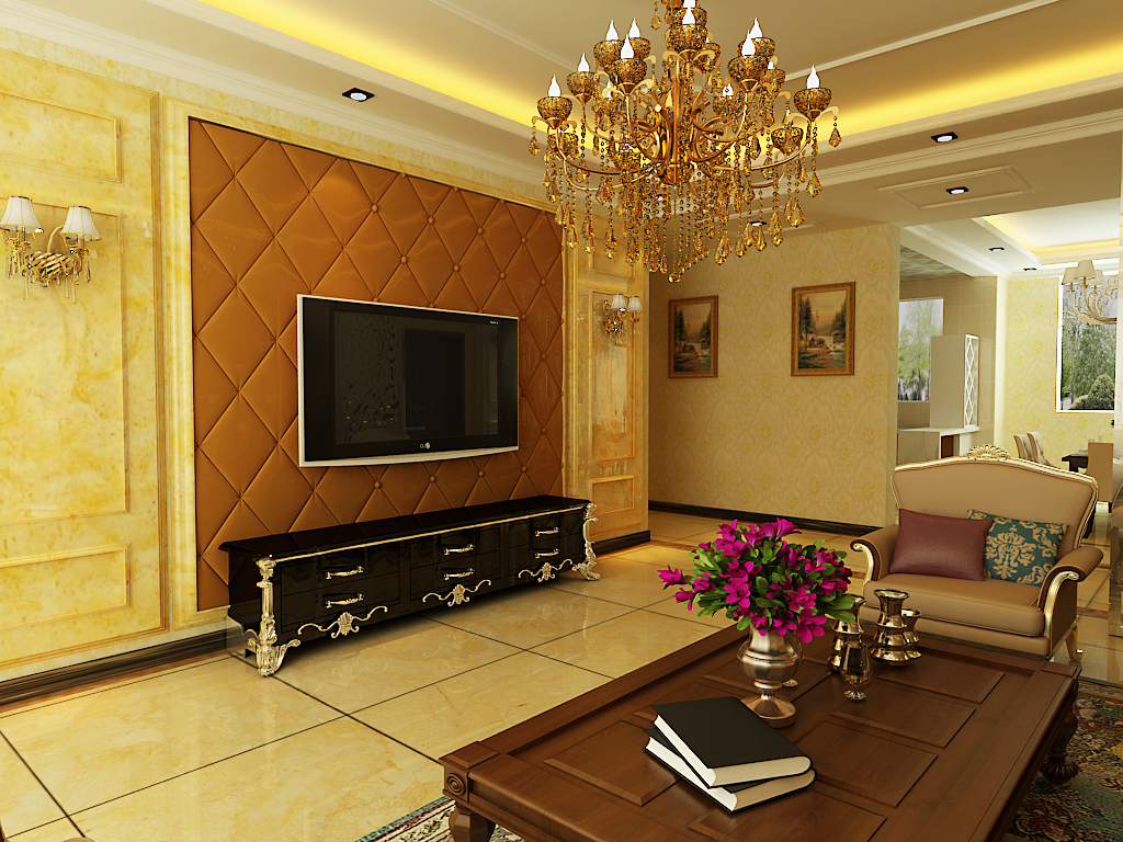 简约 二居 客厅图片来自百家设计小刘在泰莱首园的分享