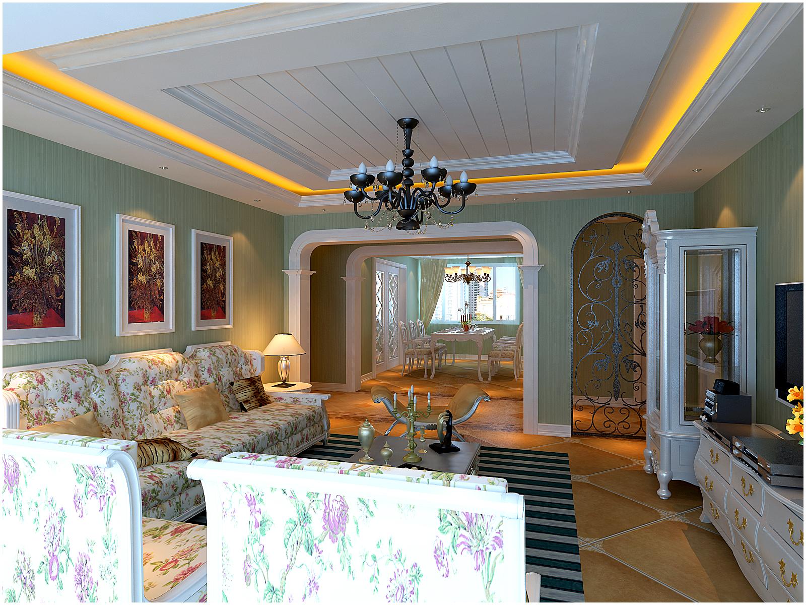 欧式 三居 小资 客厅图片来自百家设计小刘在名流公馆150平的分享