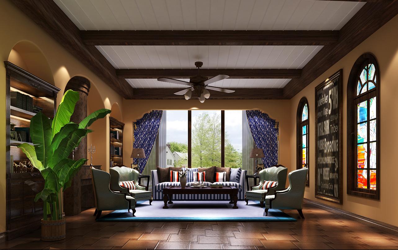 客厅图片来自沙漠雪雨在达观别墅500平托斯卡纳 经典的分享