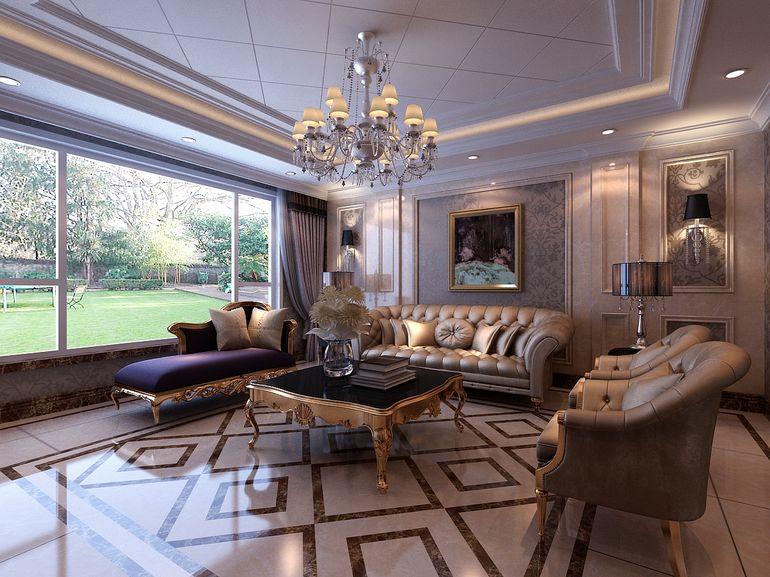 欧式 80后 客厅图片来自张竟月在爱她就给她一个家的分享