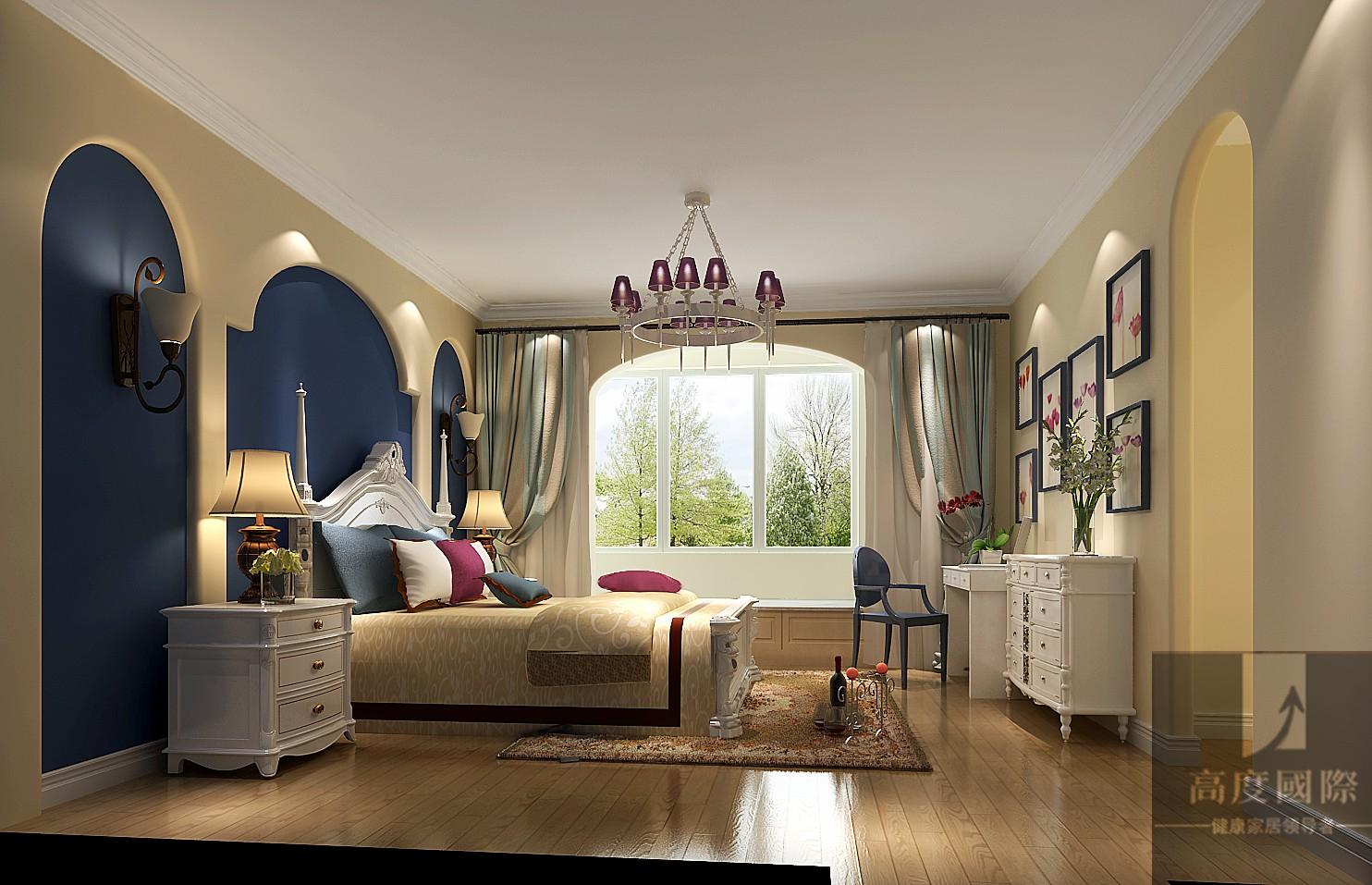 三居 简约 欧式 混搭 北京装修 卧室图片来自高度国际装饰韩冰在色彩鲜明的童屋的分享