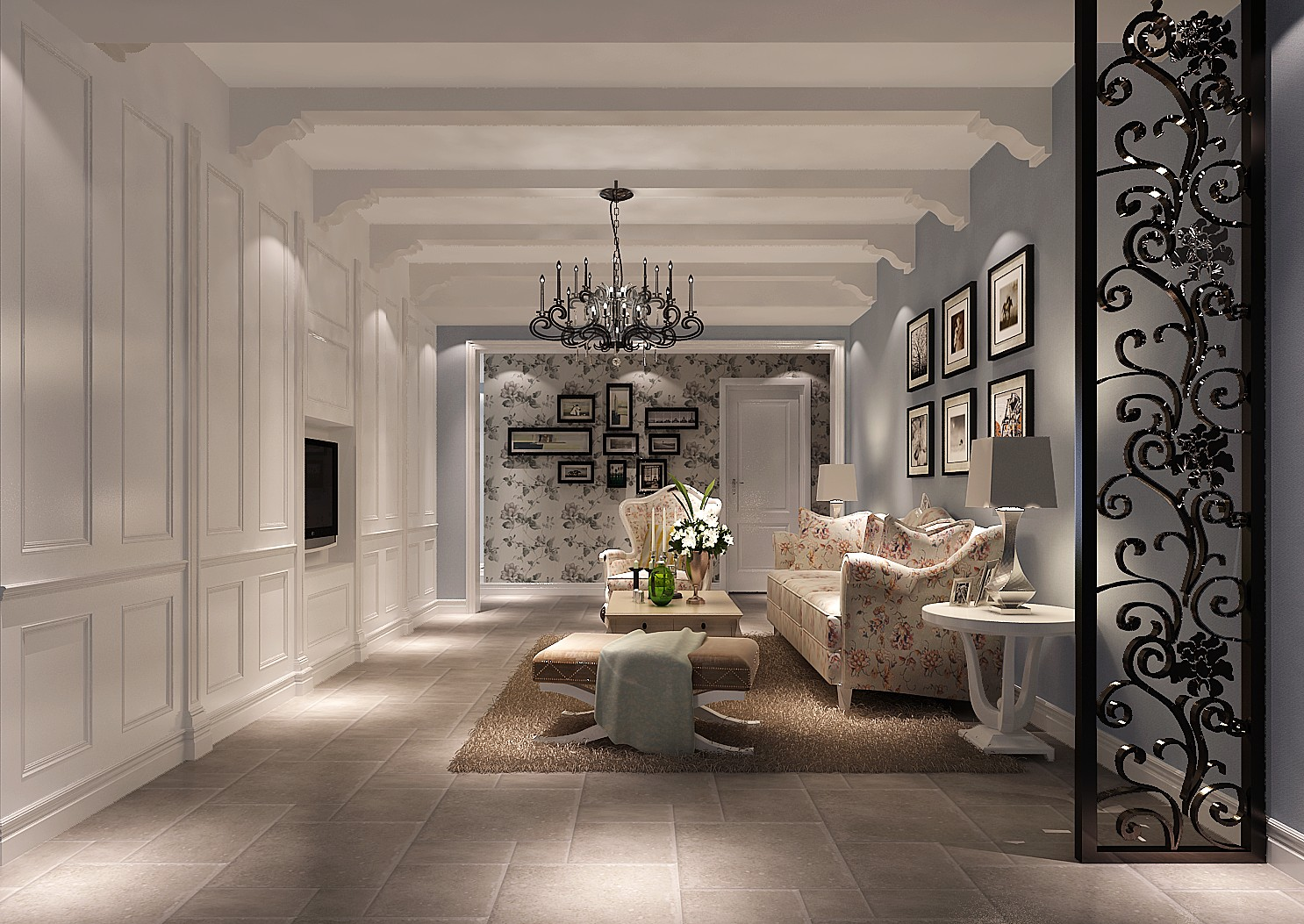 高度国际 润泽公馆 美式田园 公寓 客厅图片来自高度国际在美式田园-高度国际打造健康家居的分享