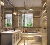 一层主人会感觉厨房不大不够用,设计师大胆的设计思路把卫生间的一部分分给厨房,满足了主人的需求,二层的书房主人会觉得不够通透不够明亮,设计师用自己多年的设计经验融入本设计的风格做的装饰