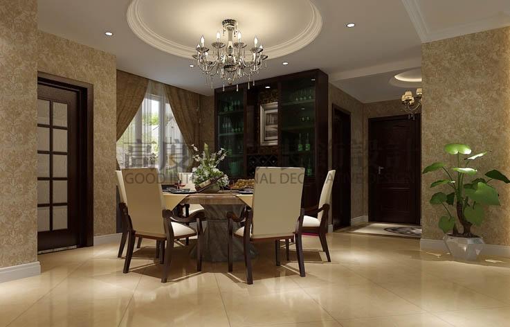世华泊郡 三室两厅 现代简约 130平米 3.8万元 高度国际 希文 餐厅图片来自高度国际装饰宋增会在休闲丶舒适主题的分享