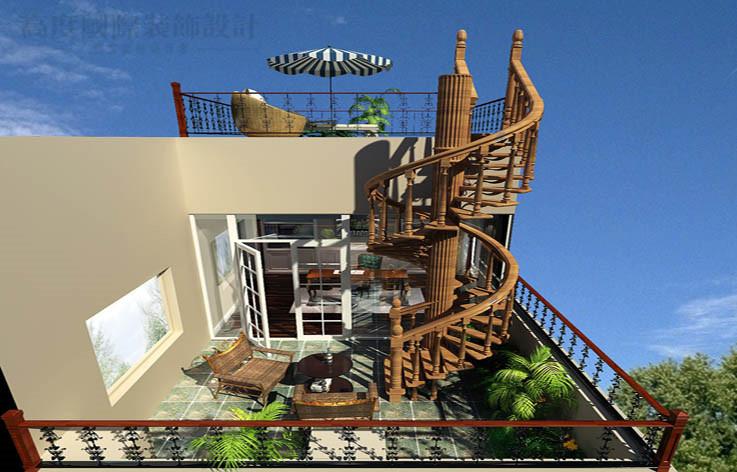 别墅 潮白河 混搭 装修 效果 小资 阳台图片来自高度国际别墅装饰设计在潮白河孔雀城混搭风格别墅设计的分享