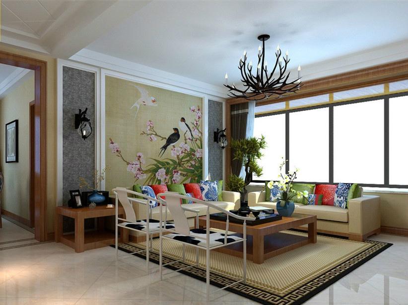 升龙凤凰城 欧式效果图 三居 客厅图片来自河南超凡装饰在升龙凤凰城135平新中式装修案例的分享