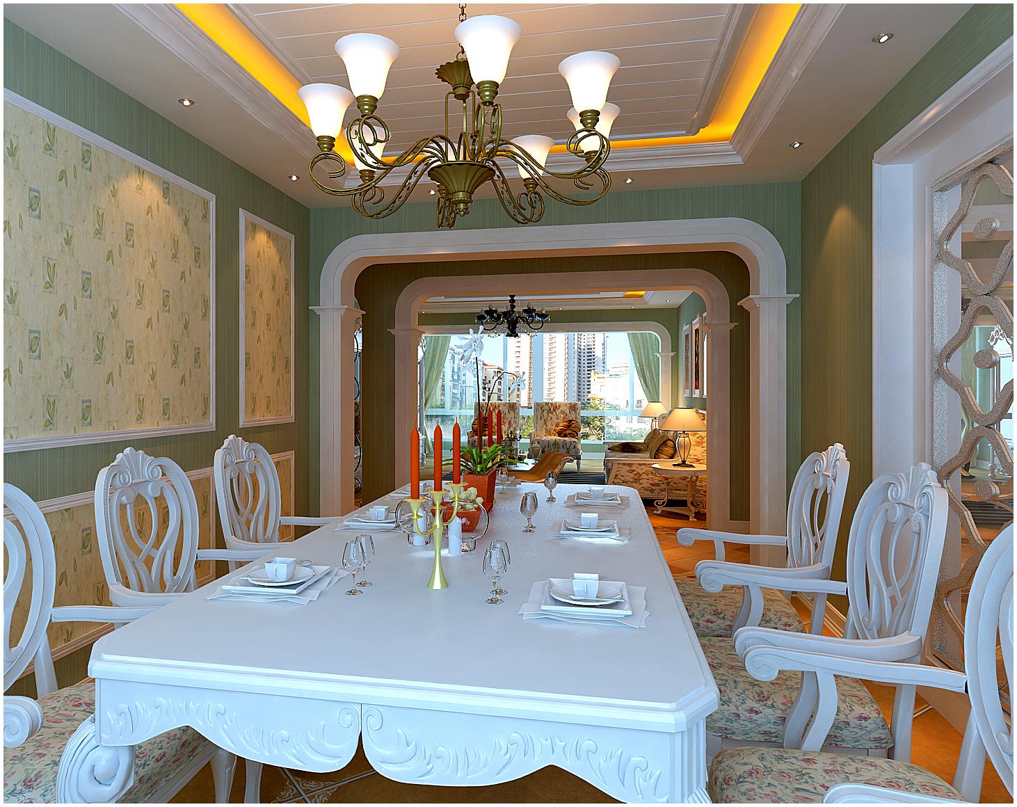 欧式 三居 小资 餐厅图片来自百家设计小刘在名流公馆150平的分享