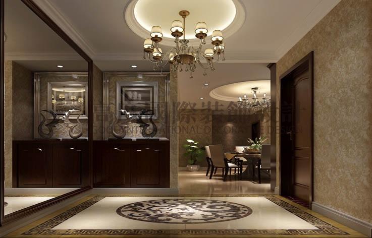 世华泊郡 三室两厅 现代简约 130平米 3.8万元 高度国际 希文 玄关图片来自高度国际装饰宋增会在休闲丶舒适主题的分享