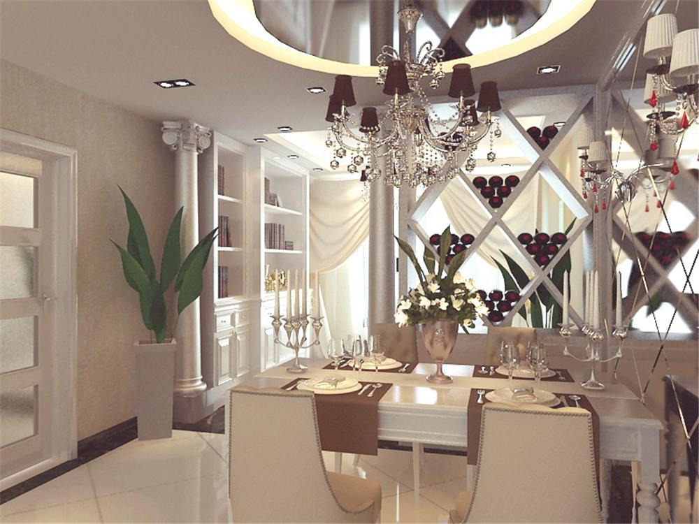 欧式 三居 白领 收纳 旧房改造 80后 小资 餐厅图片来自实创装饰完美家装在奢华欧式华丽淡雅金属质感的分享