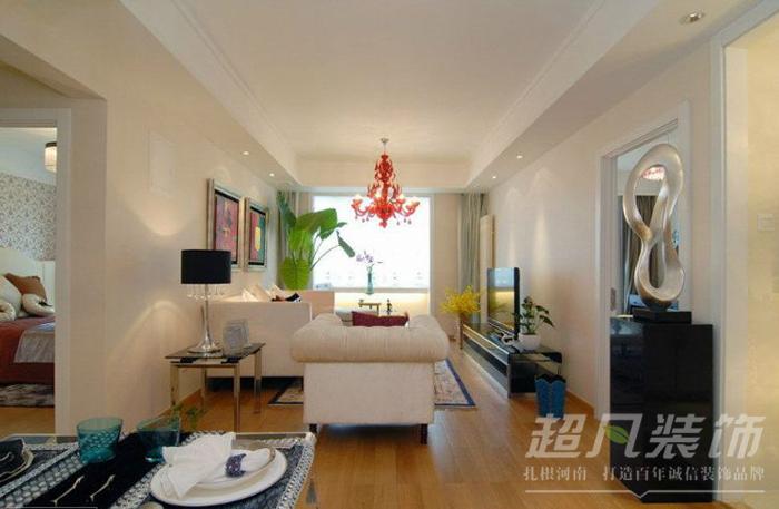 简约 二居 80后 客厅图片来自超凡装饰黄建生在阳光花苑80平现代简约的分享