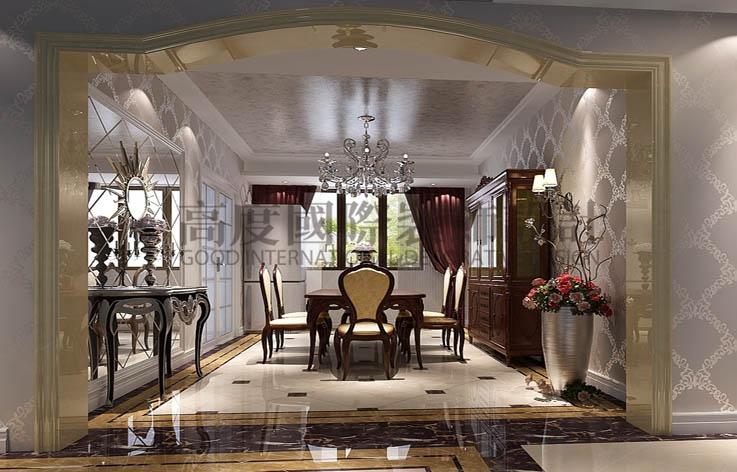 鲁能七号院 三居两卫 奢华欧式 140平米 8万元 高度国际 希文 公寓 餐厅图片来自高度国际装饰宋增会在低调奢华丶雅致大气的分享