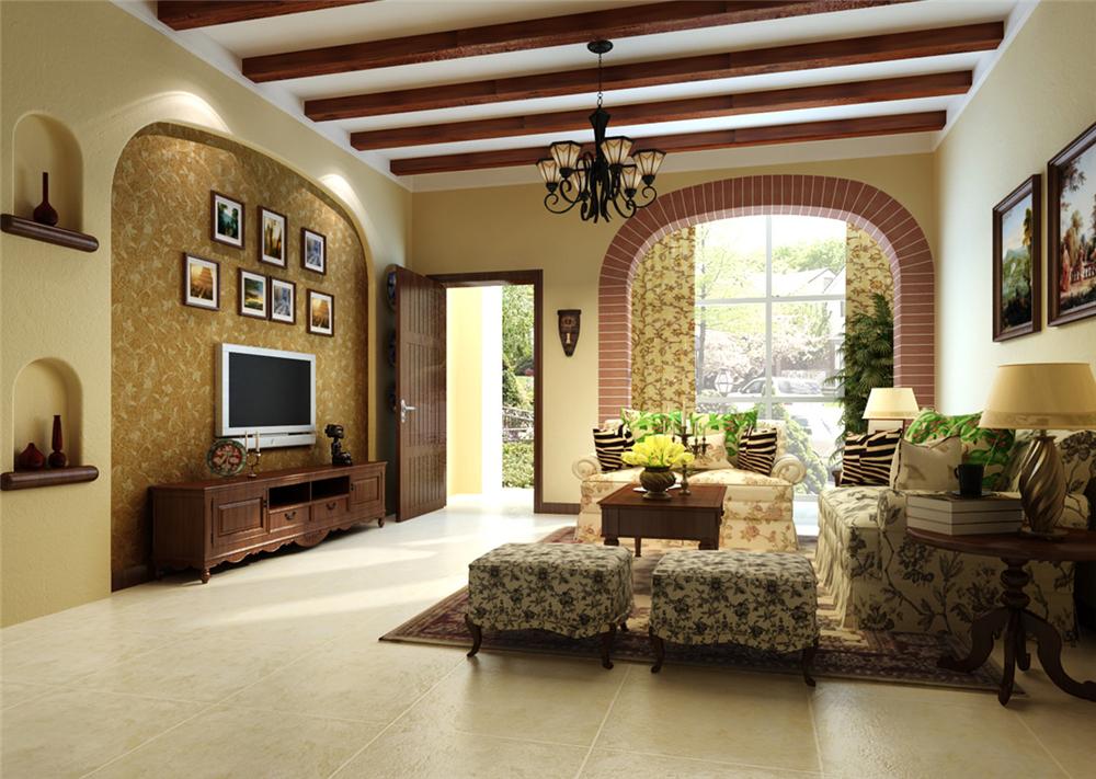 别墅 白领 收纳 80后 小资 客厅图片来自实创装饰完美家装在复古典雅恬淡洒脱恬淡浪漫的分享