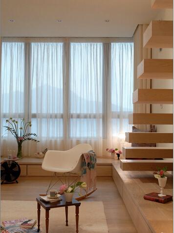 简约 田园 混搭 二居 旧房改造 楼梯图片来自上海倾雅装饰有限公司在蓝色港湾的分享