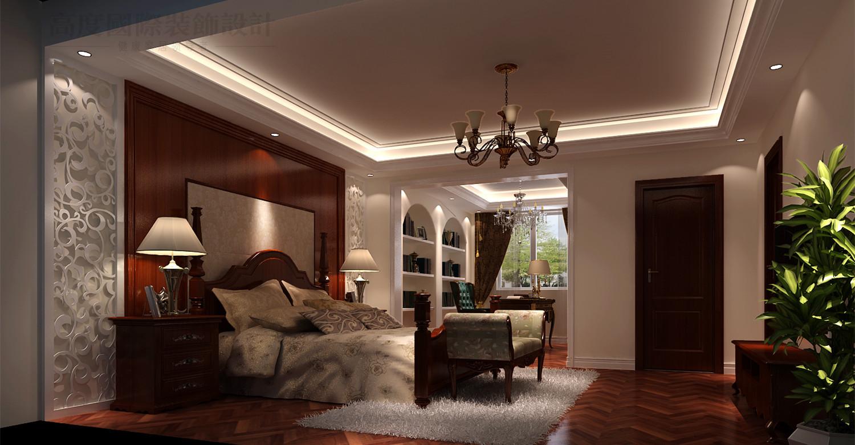 托斯卡纳 别墅 潮白河 效果图 装修 卧室图片来自高度国际别墅装饰设计在潮白河孔雀城托斯卡纳风格设计的分享