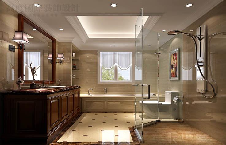 欧式 别墅 装修 效果图 设计 卫生间图片来自高度国际别墅装饰设计在中海尚湖世家下叠别墅装饰设计的分享