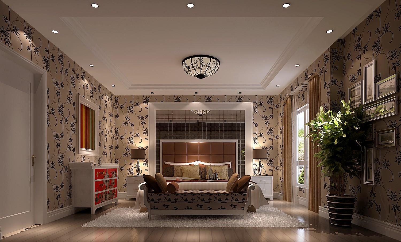 卧室图片来自沙漠雪雨在潮白河孔雀城380平简约 风格联排的分享
