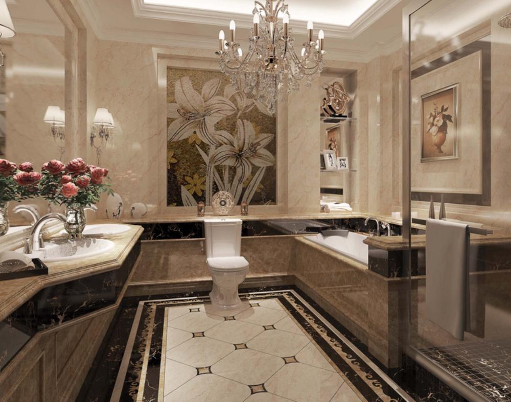 欧式 三居 小资 卫生间图片来自天津宜家宜装饰在假日风景的分享