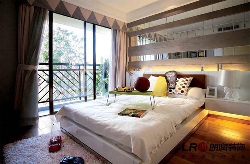 现代 简约 清爽 舒适 温馨 二居 87平 卧室图片来自朗润装饰工程有限公司在87平温馨舒适现代二居的分享