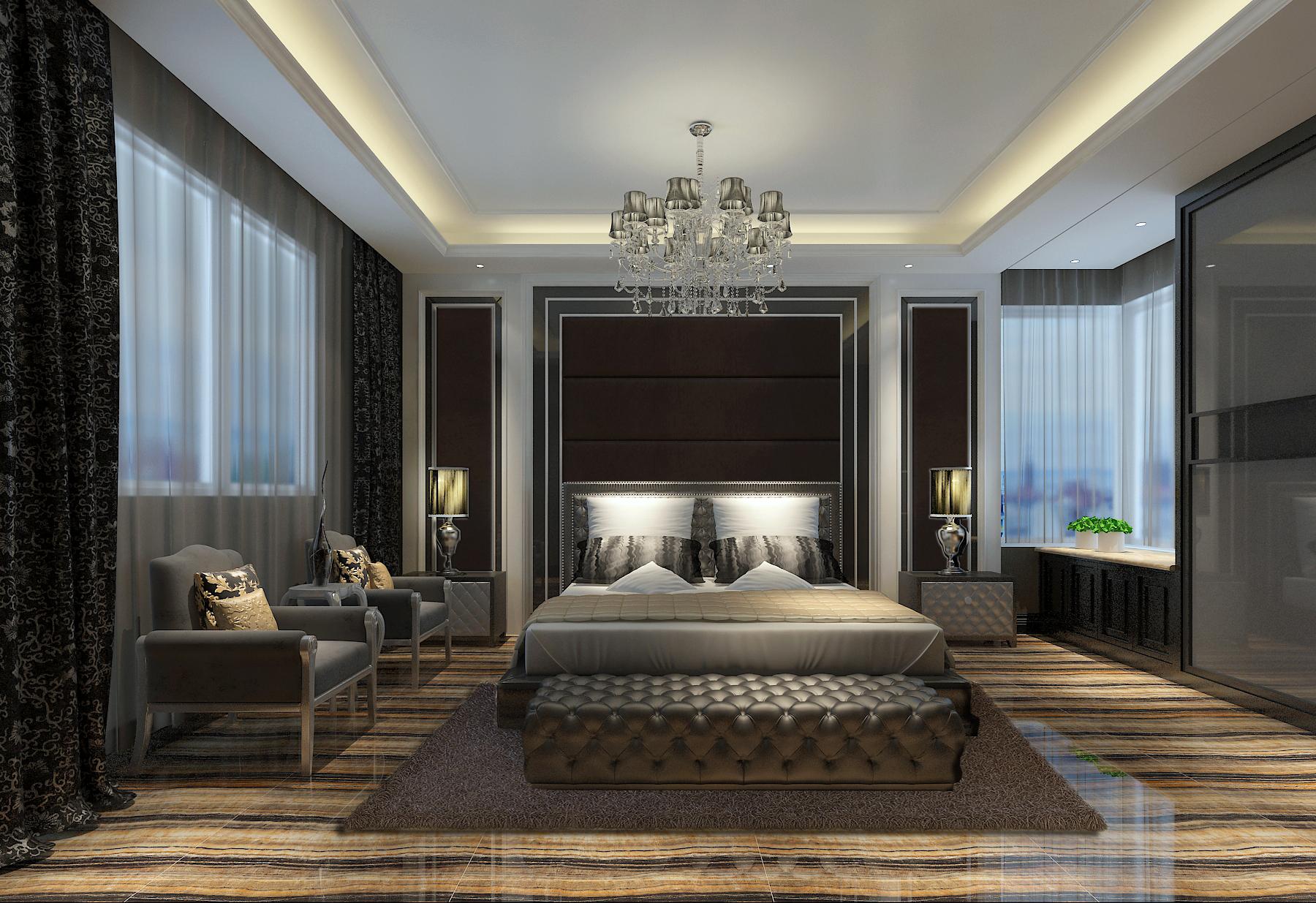 简约 欧式 混搭 三居 小资 卧室图片来自白翔宇-易百装饰在后现代混搭的分享