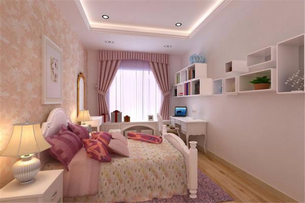 女儿房的风格就截然不同了,而是采用了欧式风格中的浪漫活泼型。