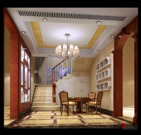 欧式 别墅 盛芳园别墅 高富帅 白富美 名雕丹迪 楼梯图片来自名雕丹迪在盛芳园:欧式风格-220平别墅装饰的分享