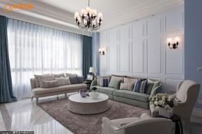 新古典 别墅 白领 四居 欧式 舒适 客厅图片来自幸福空间在淡淡悠蓝的新古典华美内涵的分享