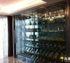 名雕装饰设计-公园大地三居室—现代风格休闲区酒柜