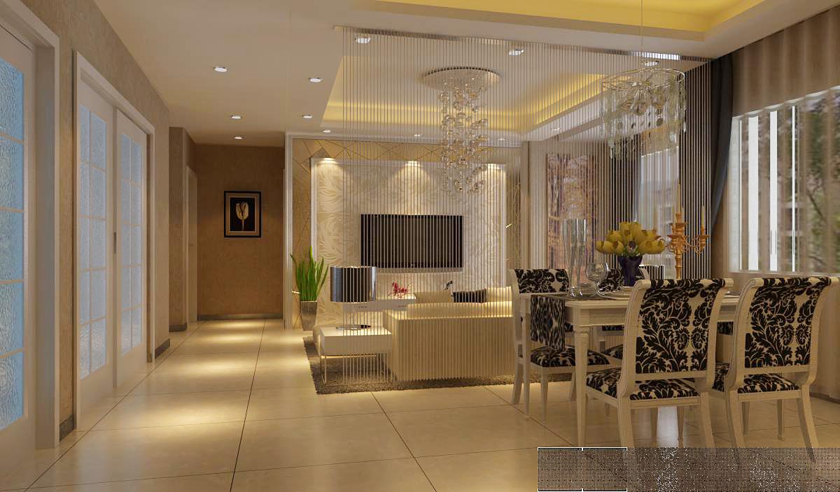 简约 现代简约 和平盛世 三居 餐厅图片来自合肥川豪装饰装修在和平盛世110平米现代简约风格的分享