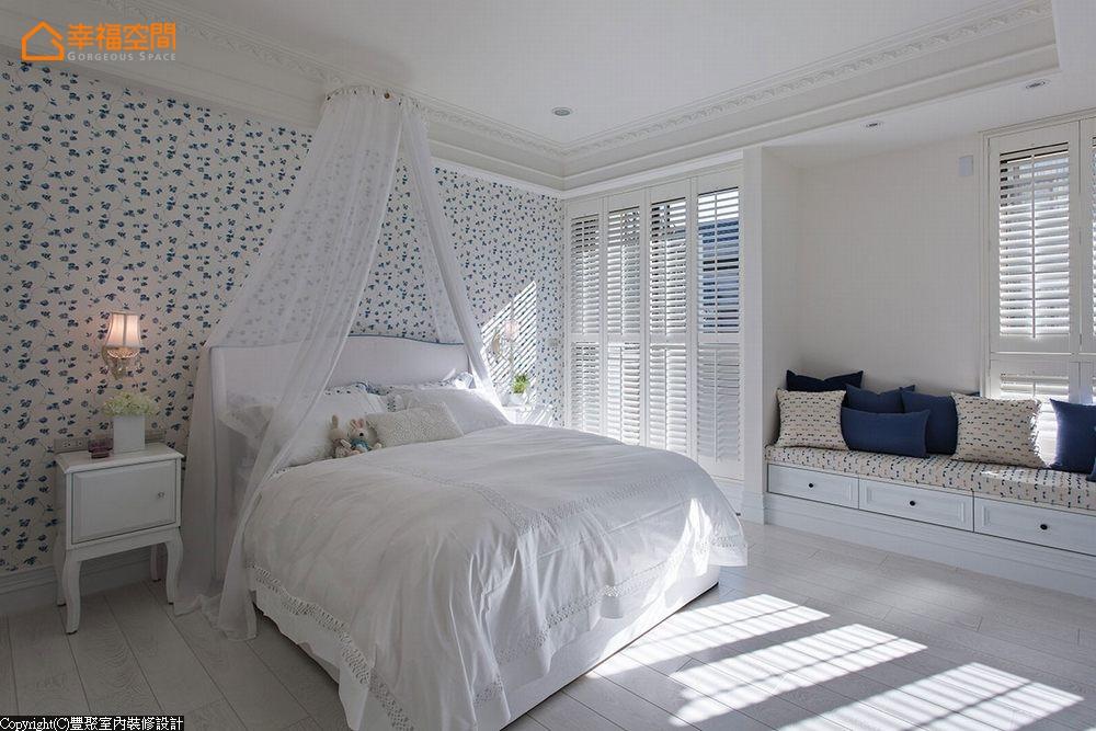 新古典 别墅 白领 四居 欧式 舒适 公主房 儿童房图片来自幸福空间在淡淡悠蓝的新古典华美内涵的分享