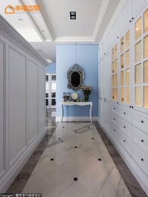 新古典 别墅 白领 四居 欧式 舒适 玄关图片来自幸福空间在淡淡悠蓝的新古典华美内涵的分享