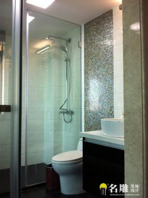 现代 三居室 休闲雅居 名雕装饰 文艺空间 高富帅 卫生间图片来自名雕装饰设计在现代风格--230平休闲雅居装修的分享
