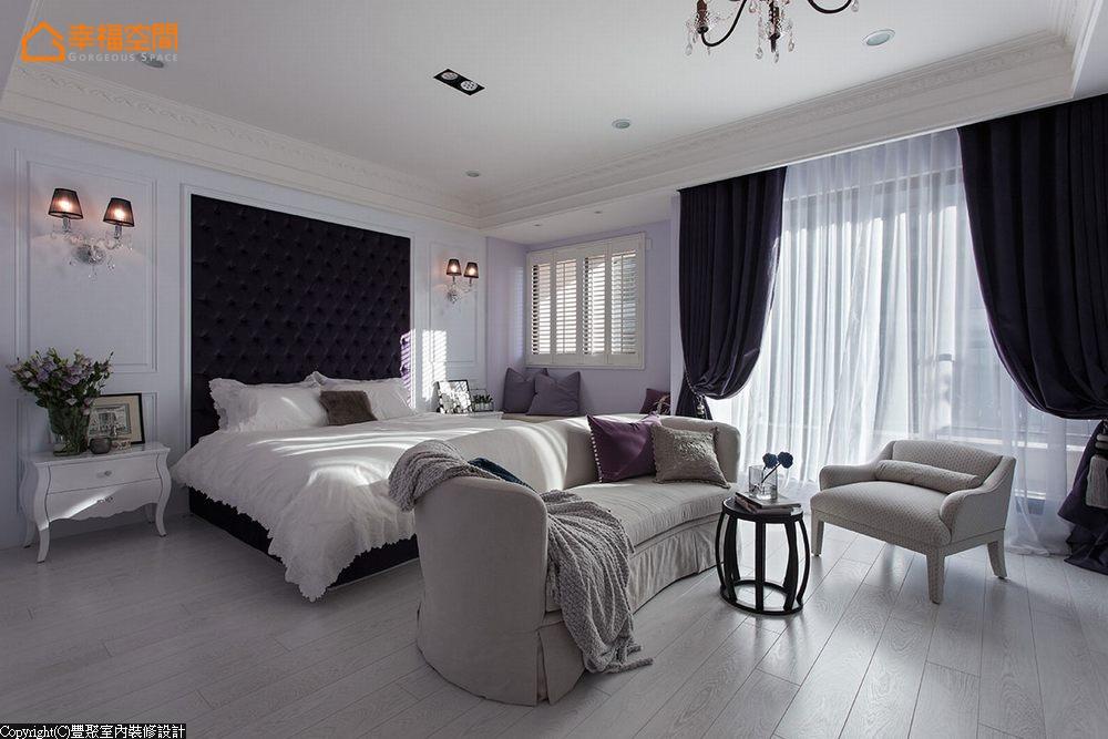 新古典 别墅 白领 四居 欧式 舒适 卧室图片来自幸福空间在淡淡悠蓝的新古典华美内涵的分享