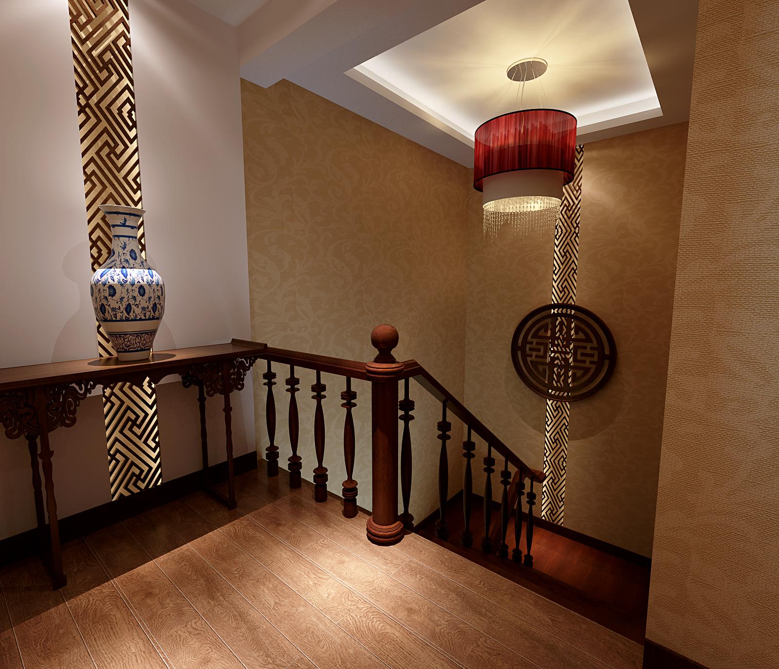 新中式 大三居 三居室装修 装修公司 实创 环保装修 萌装修 清新风格 小清新 楼梯图片来自北京实创装饰在碧湖居九号公寓的分享