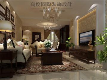 世华泊郡三室两厅美式休闲风格
