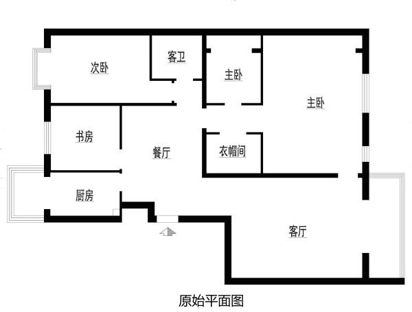 朝阳区丽都东镇150平米原始户型图